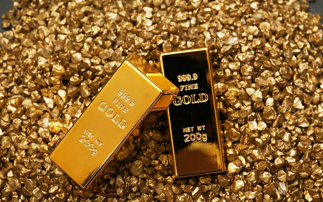 Monthly gold output glitters